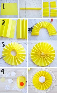 30 Fun and Cheap DIY Party Decorations - A party doesnt have to cost an arm…wie man Papier macht Source by muhteremaaehow to make paperFor inside the fun house Kids Crafts, Diy And Crafts, Diy Party Decorations, Birthday Decorations, Diy Paper, Paper Crafts, Paper Fans, How To Make Paper, Paper Flowers