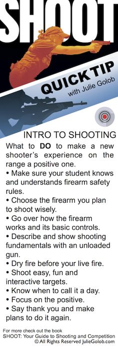 SHOOTing Tip - Introduction to Shooting for the new shooter