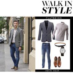 Mens Fashion Blazer, Fashion Men, Designer Clothes For Men, Designer Clothing, Boutique Clothing, Outfit Ideas, Menswear, Man Shop, Watch