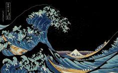 "The Great Wave off Kanagawa (神奈川沖浪裏 Kanagawa Oki Nami Ura?, lit. ""Under a Wave off Kanagawa""), also known as The Great Wave or simply The Wave, is a woodblock print by the Japanese artist Hokusai. Negative (Version II)"