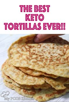 These amazing keto tortillas are made with coconut flour and psyllium so are super stretchy! This low carb tortillas recipe is super easy to make all the while being super healthy! These gluten free l Coconut Flour Tortillas, Recipes With Flour Tortillas, Keto Tortillas, Pancakes With Coconut Flour, Best Low Carb Tortillas, Tapioca Flour Recipes, Quinoa Tortillas, Cauliflower Tortillas, Low Carb Wraps