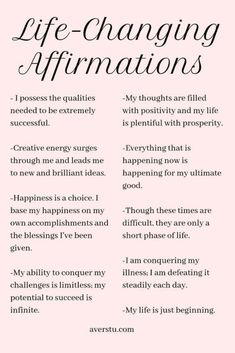 Practicing positive self-affirmations is a wonderful way to start your day. They can help you set the tone for how you want your experience to be, and aid you in establishing your intention for the da Daily Positive Affirmations, Positive Affirmations Quotes, Affirmation Quotes, Healthy Affirmations, Gratitude Quotes, Affirmations For Love, Positive Life Quotes, Money Affirmations, Being Positive