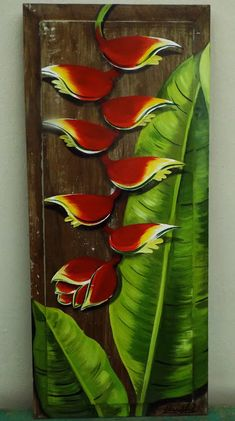 Acrylic Painting Inspiration, Silk Art, Tropical Art, Abstract Portrait, Stencil Art, Pottery Art, Painting On Wood, Wood Art, Flower Art