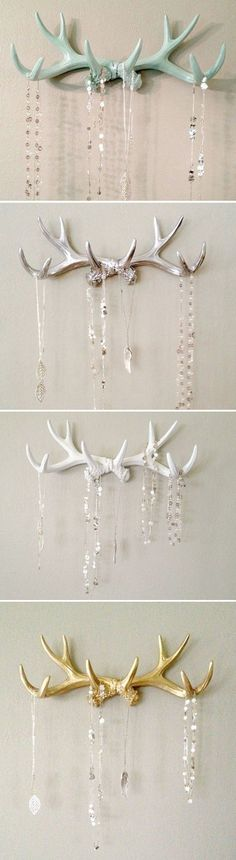 Antlers! In Mint, Silver, White, and Gold. @lmb20