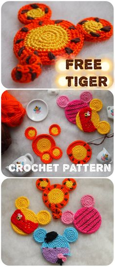 This and other Mouse ornaments are the perfect, handmade addition for you to wor. Crochet For Kids, Free Crochet, Knit Crochet, Crochet Crafts, Yarn Crafts, Yarn Projects, Crochet Projects, Easy Crochet Patterns, Knitting Patterns