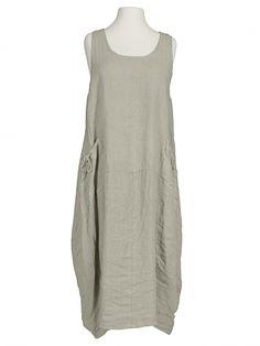 Damen Leinenkleid, beige von Spaziodonna bei www.meinkleidchen.de