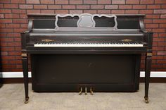 Distressed ebony satin. So cool!  #piano #refinish #DIY #pianorevivalproject