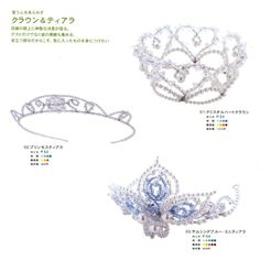 CraftyLine e-pattern shop: 2 Tiaras and 1 Crown Beading Pattern PDF