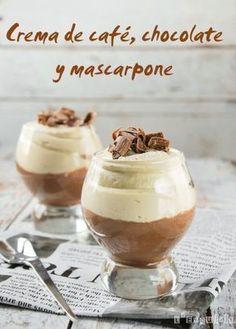 Crema de café, chocolate y mascarpone