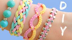 DIY friendship bracelets! 4 Easy Stackable Arm Candy projects!