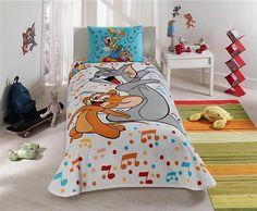 Taç Tom And Jerry Music Tek Kişilik Lisanslı Pike Takımı | cazip geldi