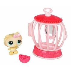 Littlest Pet Shop Pets on the Go Canary Bird with Cage