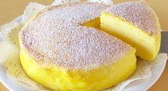 Gâteau Japonais fait avec trois Ingrédients seulement.