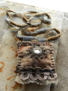 Moon Over Water, amulet...  lavender, peppermint, silk, eucalyptus dyed silk and wool felt...  warm, protecting  http://elizabethbunsen.typepad.com/be_dream_play/2013/01/amulet-and-the-ohs.html