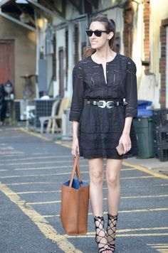 mini dress + lace ups