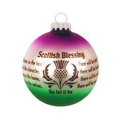 Scottish Blessing Ornament
