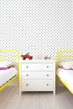 10 Best Kids Rooms | Via Handmade Charlotte | Camille Styles. Love the black and white with bold color.