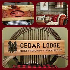 The beauty of cedar creates warmth to your rustic setting! Www.adirondackjims.com