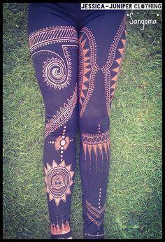 Sangoma. Hand-made Bleach Art Leggings by JuniperLeggings on Etsy