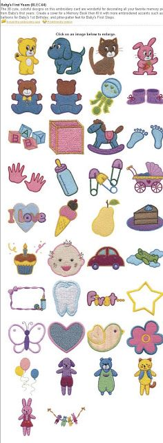 Dreams Free Embroidery: Baby