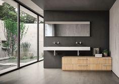 Salle de bain contemporaine / en Fenix NTM / en bois SENSE IDEAGROUP