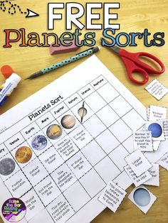 Three FREE planets sorts! Such a fun planets activity for your solar system unit!