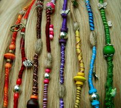 Dreads Hair Wraps for blonde hair Handmade by CrazyFoxDesign, €7.00