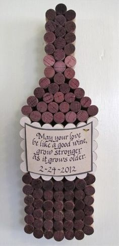 Great idea for all the corks from the reception! So awesome, I want one!