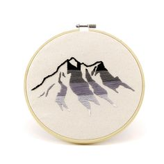 Gradient Mountains Embroidery