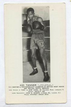 Black Boxer Lionel Gibbs c1939 British  Guiana Champion Postcard rp Boxing photo