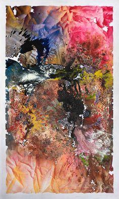 Shadow Dance In Crack Area #10    /   Spray Paint and Acrylic on Canvas   /   150 x 90 cm   /   2017
