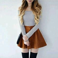 24 super cute outfits to wear to school for girls this fall Outfits 2019 Outfits casual Outfits for moms Outfits for school Outfits for teen girls Outfits for work Outfits with hats Outfits women Comfy School Outfits, Fall Outfits For School, Trendy Summer Outfits, Teen Fashion Outfits, Cute Casual Outfits, Girly Outfits, Mode Outfits, Cute Fashion, Cute Outfits For Girls