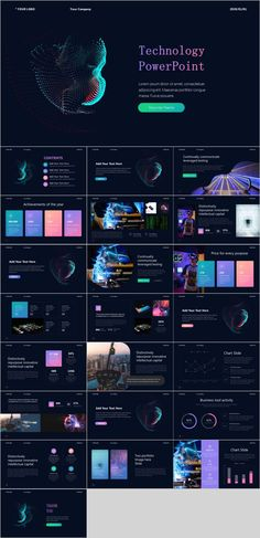 T Creative technology ideas PowerPoint--The highest quality PowerPoint Templates and Keynote Templa Keynote Design, Ppt Design, Design Poster, Slide Design, Design Art, Chart Design, Brochure Design, Graphic Design, Technology Posters