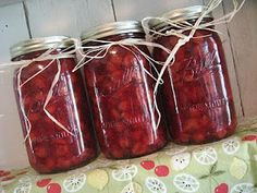 Canned cherries were such a treat when I was a kid! Canned Cherries, Sweet Cherries, Canned Food Storage, Cherries Jubilee, Canning Recipes, Jar Recipes, Recipies, Home Canning, Preserving Food