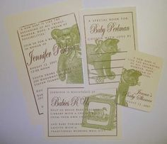 55 invitations, bookplates, registry cards, and gift tags. I love custom orders! Custom Baby Shower Invitations, Shower Party, Gift Tags, New Baby Products, Cards, Gifts, Shower Ideas, Presents, Maps