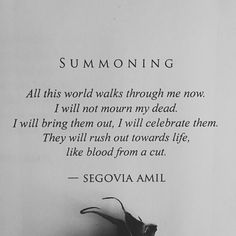 """Summoning"" written by Segovia Amil"