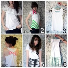 DIY Six Easy Tee Shirt Restyles from Clones N Clowns Part I