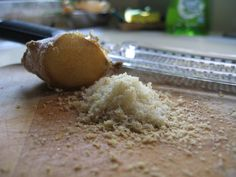 Grate ginger (fast) instead of mincing it (slow).   I need a new grater. My ginger always turns into mush.
