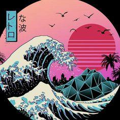 vaporwave retro Turtle // Animal Poker T Shirt By Studiokauz Design By Humans Waves Wallpaper, Retro Wallpaper, Aesthetic Iphone Wallpaper, Aesthetic Wallpapers, Japanese Wallpaper Iphone, Animal Wallpaper, Vaporwave Wallpaper, Retro Kunst, Retro Art