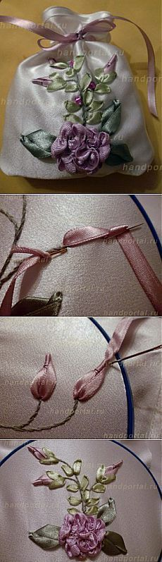 Sasha cintas bordadas |  Todo lo que se hace con sus propias manos #SilkRibbonEmbroidery