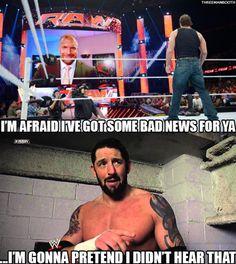 88f94398811ab99d1800d4ff6e2b7490 funny memes jokes wade barrett bad new barret wrestling 'rasslin pinterest