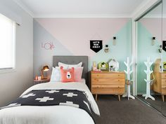 And mint kids room ideas pastel room, pastel walls, pink bedrooms, gray bed