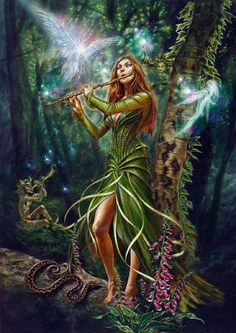 f Bard Sylvan Forest ne wilderness Faerie Magick Reel Card by Briar Fairy Music Woodland Fae and Pan Greeting Card Fairy Music, Fairy Art, Magical Creatures, Fantasy Creatures, Elves And Fairies, Fantasy Fairies, Fairy Pictures, Beautiful Fairies, Beautiful Artwork