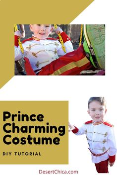 This DIY Prince Charming Costume is great to pair with a Cinderella dress up or disneybound while in Disney Parks or the perfect couples costume for Halloween. It can be made for toddlers and scaled to teens and adult sizes. This simple tutorial shows how to make it without any sewing. No Sew Costumes | Disney Costumes | Couples Costumes | Halloween Costumes | Disneybounding Cinderella Dress Up, Disney Princess Cinderella, Cinderella Party, Prince Charming Costume, Prince Costume, Boy Costumes, Couple Halloween Costumes, Costume Ideas, Disney Diy