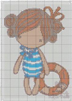 Magic dolls (Marine ll) Cross Stitch Owl, Cross Stitch For Kids, Counted Cross Stitch Kits, Cross Stitch Flowers, Cross Stitch Designs, Cross Stitch Embroidery, Cross Stitch Patterns, Stitch Character, Stitch Doll