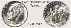 Silver Roosevelt Dime Representing the Silver Years 1946 to 1964 and Above Average Value