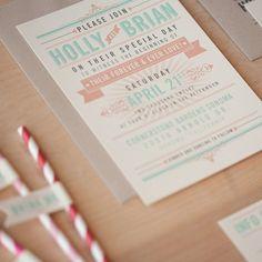 Vintage Poster Wedding Invitations  vintage by JenSimpsonDesign, $3.75