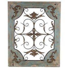 Rustic Turquoise Wood & Metal Wall Decor - Hobby Lobby