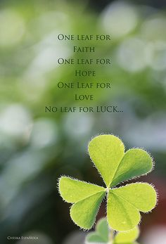 "Clover - heart shaped leaves, makes us happy... (happiness and luck are both ""onni"" in Finnish)"