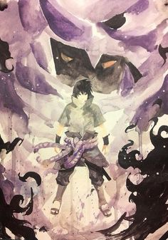 Sasuke and Susanoo Watercolor